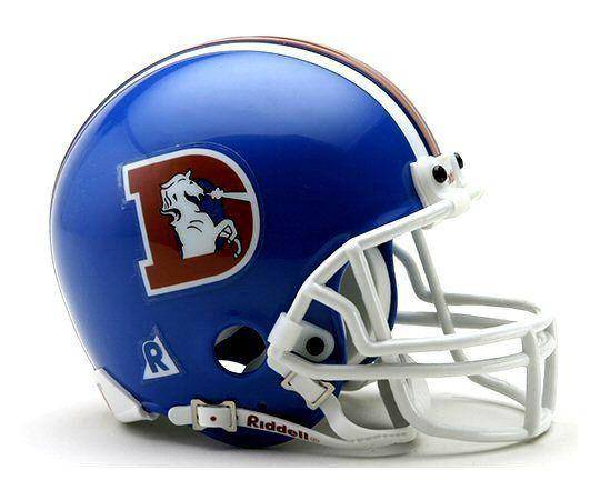Denver Broncos NFL Throwback 1975-1996 Mini Helmet
