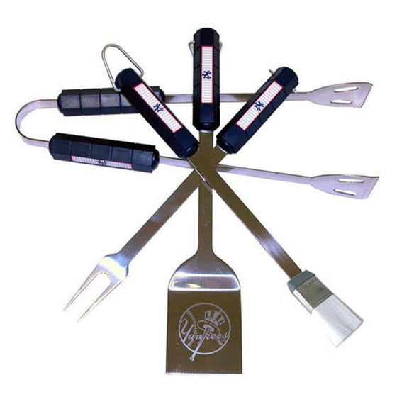 New York Yankees 4 piece Barbecue BBQ Set