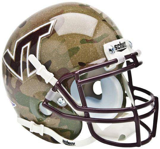 Virginia Tech Hokies Camo Mini Helmet