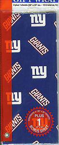 New York Giants Team Logo Wrapping Paper Gift Wrap 12.5 sq ft
