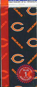 Chicago Bears Team Logo Wrapping Paper Gift Wrap 12.5 sq ft - 757 Sports Collectibles