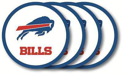 NFL Buffalo Bills Vinyl Coaster Set - 4 Pack