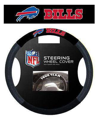 NFL Buffalo Bills Poly-Suede Universal Steering Wheel Cover