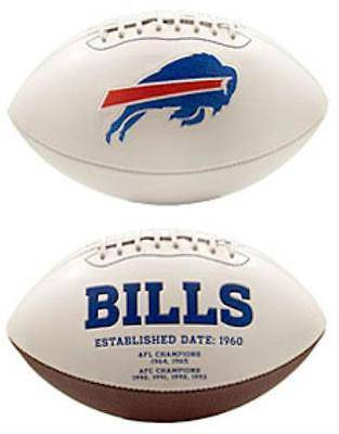 NFL Buffalo Bills White Panel Signature Series Autograph Logo Football