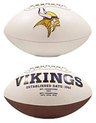 NFL Minnesota Vikings White Panel Signature Series Autograph Logo Football