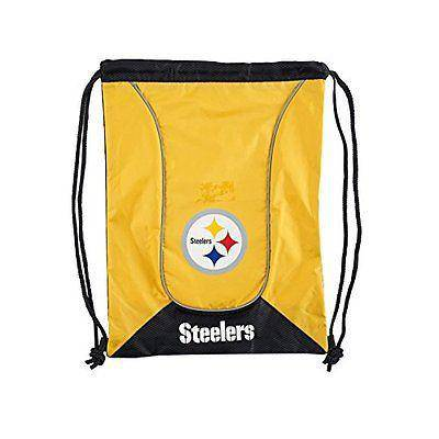 NFL Pittsburgh Steelers Axis Heavy Duty Machine Washable Team Logo Backsack