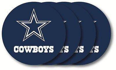 NFL Dallas Cowboys Vinyl Coaster Set - 4 Pack