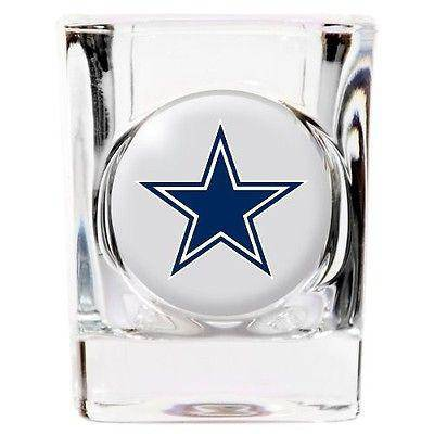 NFL Dallas Cowboys Square 2 oz Shot Glass - 757 Sports Collectibles