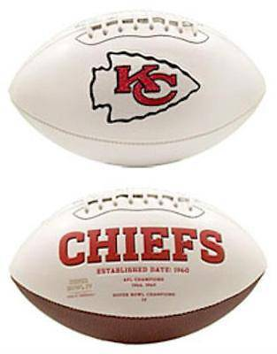 NFL Kansas City Chiefs White Panel Signature Series Autograph Logo Football