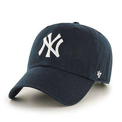 New York Yankees 47 Brand Clean Up Adjustable On Field Cotton Blue Hat Cap MLB - 757 Sports Collectibles