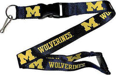 "Michigan Wolverines 1"" Thick Lanyard Breakway Key Keychain"