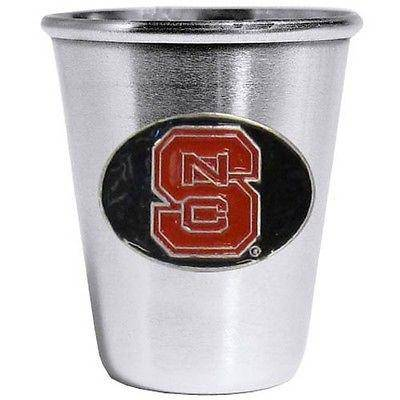 NCAA North Carolina NC State Wolfpack Stainless Steel 2 oz Shot Glass