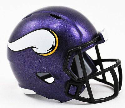 NFL Minnesota Vikings Mini Micro Pocket Pro Speed Helmet - 757 Sports Collectibles
