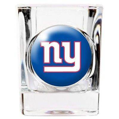 NFL New York Giants Square 2 oz Shot Glass - 757 Sports Collectibles