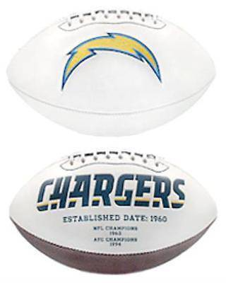 NFL San Diego Chargers White Panel Signature Series Autograph Logo Football