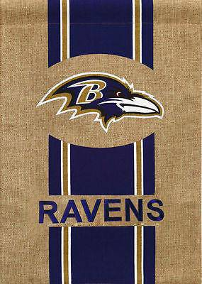 NFL Baltimore Ravens Official NFL 12.5 inch x 18 inch Team Burlap Garden Flag