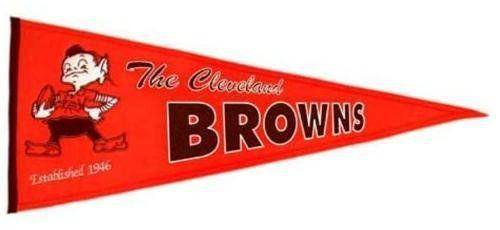 "Cleveland Browns 32"" Wool Embroidered Throwback Pennant"