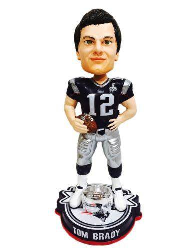 New England Patriots Tom Brady Forever Collectibles Super Bowl 49 Champ Bobble Head