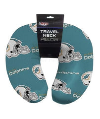 "12""x13"" NFL Travel Neck Pillow - Miami Dolphins"