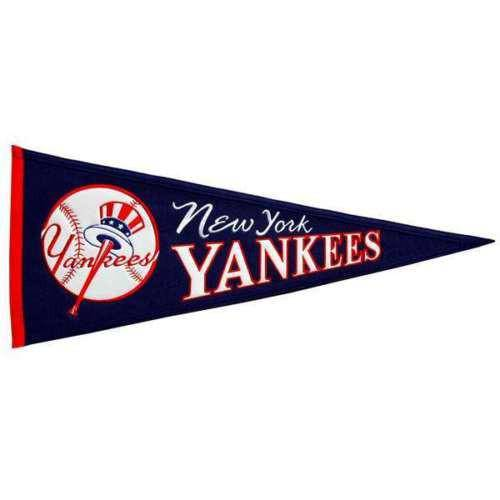 "New York Yankees 32"" Wool Embroidered Cooperstown Pennant"