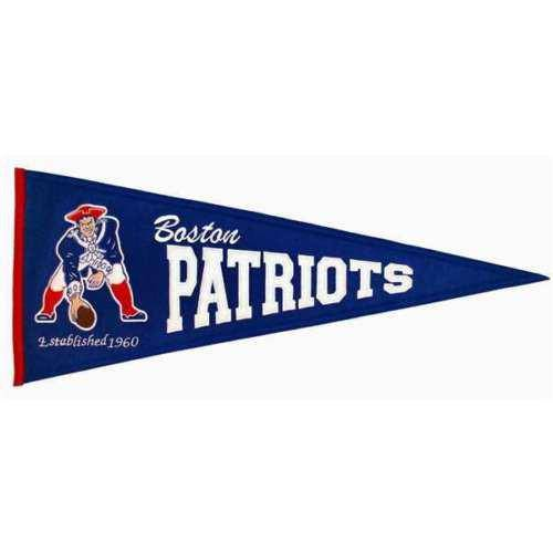 "Boston Patriots 32"" Wool Embroidered Throwback Pennant - 757 Sports Collectibles"