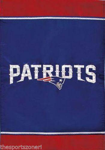 "New England Patriots Fiber Optic Light Up Embroidered 18""x12.5"" Garden Flag"