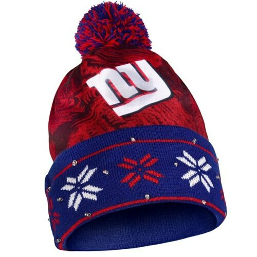 NFL Big Logo Light Up Knit Beanie - Pick Your Team - FREE SHIPPING! (New York Giants)