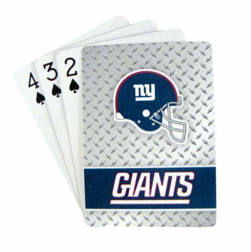 New York Giants Playing Cards Full Deck Standard Size