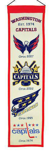 "Washington Capitals Heritage Banner 8""x32"" Wool Embroidered"