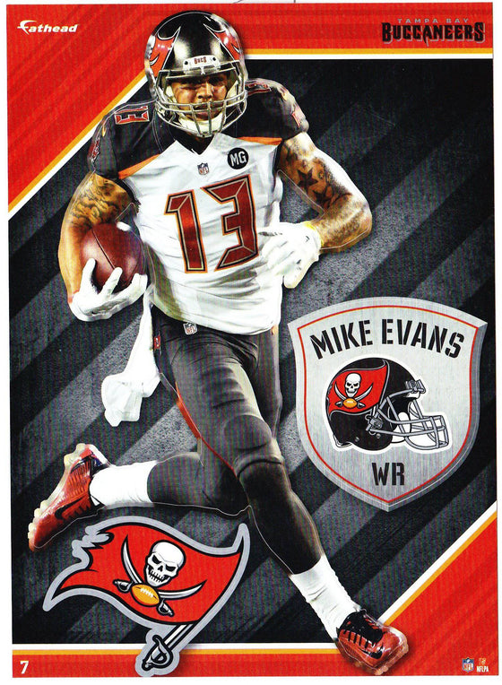 NFL Tampa Bay Buccaneers Mike Evans 2 Fathead Tradeable Decal Sticker 5x7