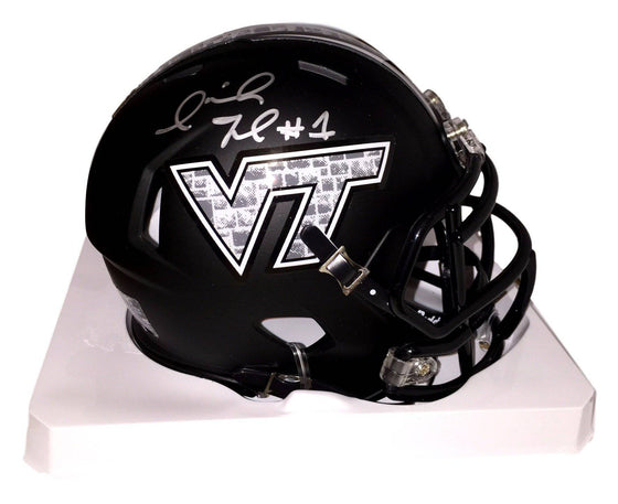 Virginia Tech VT Hokies Isaiah Ford Signed Autographed Mini Helmet (JSA PSA Pass) 757 COA 'Hokie Stone'
