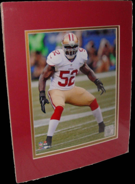 Patrick Willis San Francisco 49ers White Matted 8x10 Photo Picture Poster Print