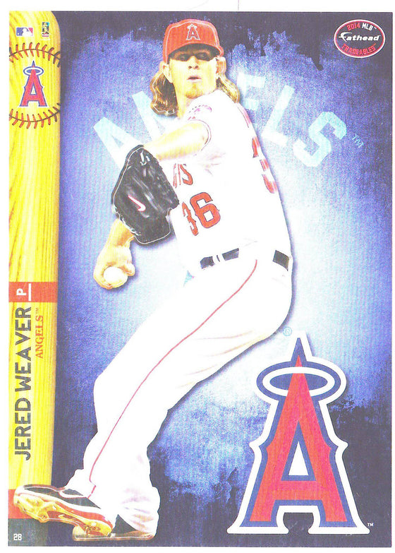 MLB Los Angeles Angels Jered Weaver Fathead Tradeable Decal Sticker 5x7 - 757 Sports Collectibles