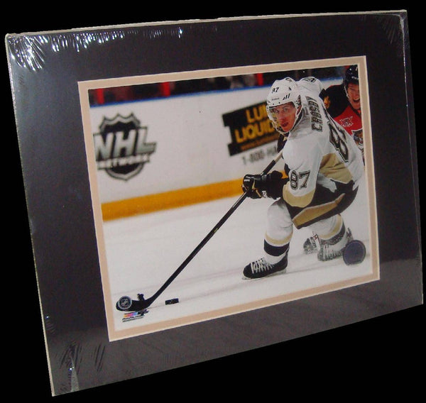 Sidney Crosby Pittsburgh Penguins White Matted 8x10 Photo Picture Poster Print