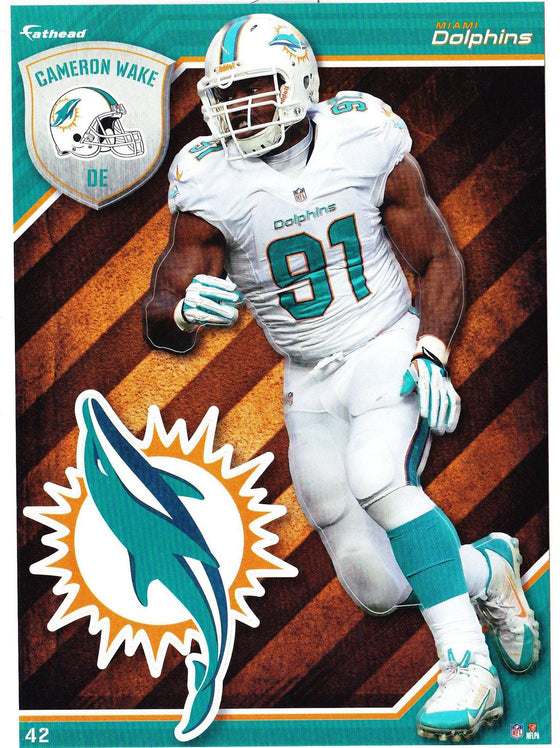 NFL Miami Dolphins Cameron Wake Fathead Tradeable Decal Sticker 5x7