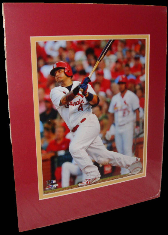 Yadier Molina St. Louis Cardinals Swing Matted 8x10 Photo Picture Poster Print
