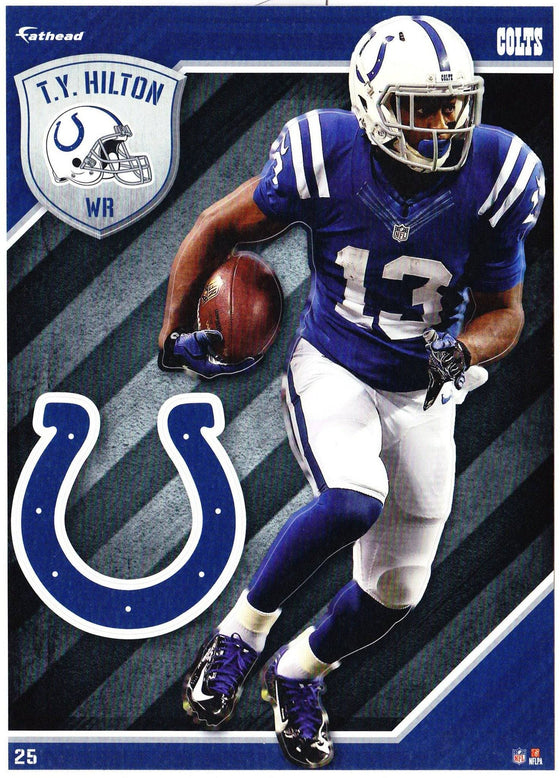 NFL Indianapolis Colts TY Hilton Fathead Tradeable Decal Sticker 5x7