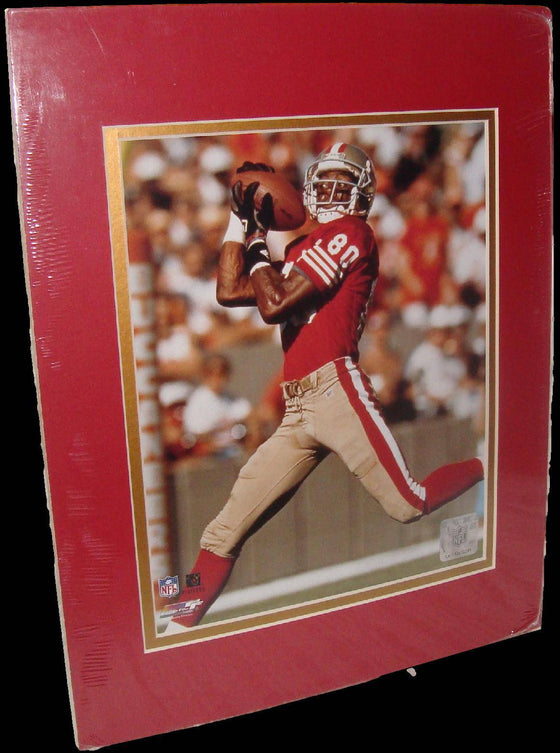 Jerry Rice San Francisco 49ers Catch Matted 8x10 Photo Picture Poster Print