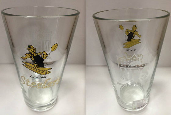 NFL Pittsburgh Steelers Vintage 16 oz Glass Pint Limited Edition