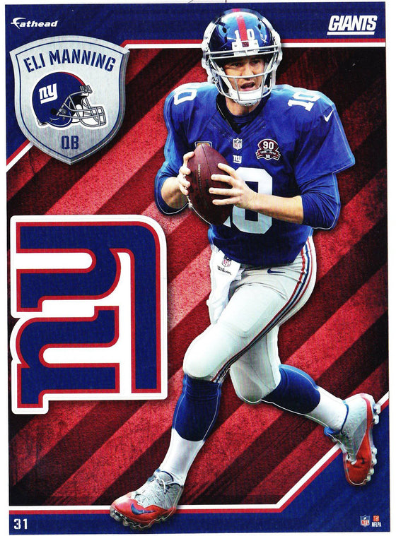 NFL New York Giants Eli Manning 2 Fathead Tradeable Decal Sticker 5x7