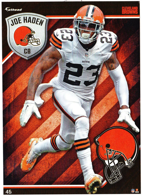 NFL Cleveland Browns Joe Haden Fathead Tradeable Decal Sticker 5x7