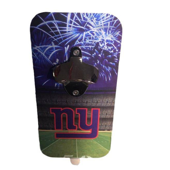 New York Giants Click 'N Drink Heavy Duty Magnetic Bottle Opener - 757 Sports Collectibles