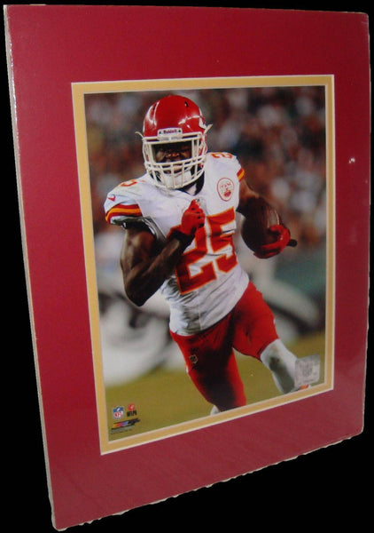 Jamaal Charles Kansas City Chiefs White Matted 8x10 Photo Picture Poster Print