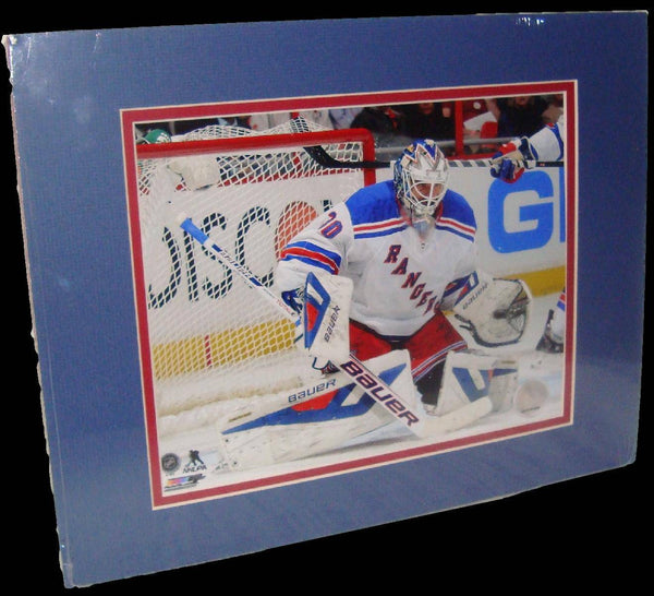 Henrik Lundqvist New York Rangers White Matted 8x10 Photo Picture Poster Print
