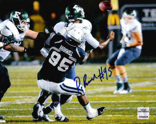 NCAA Poncho Barnwell Old Dominion ODU Monarchs Signed Auto 8x10 Sack ( JSA PSA Pass) 757