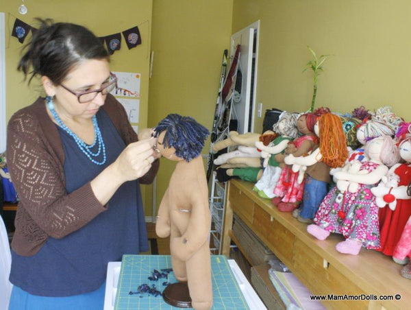 hair cutting dolls mamamor dolls