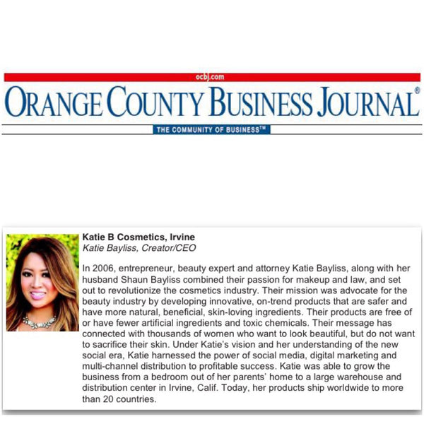 Orange County Business Journal Nomination for Excellence in Entrepreneurship