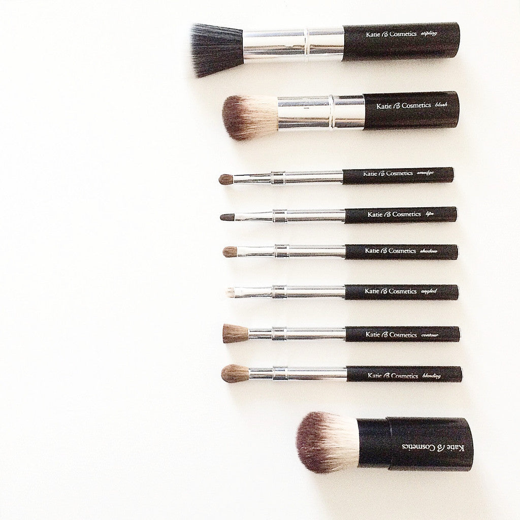 The Original Retractable Brush Set - 9 Piece Set + FREE Bag