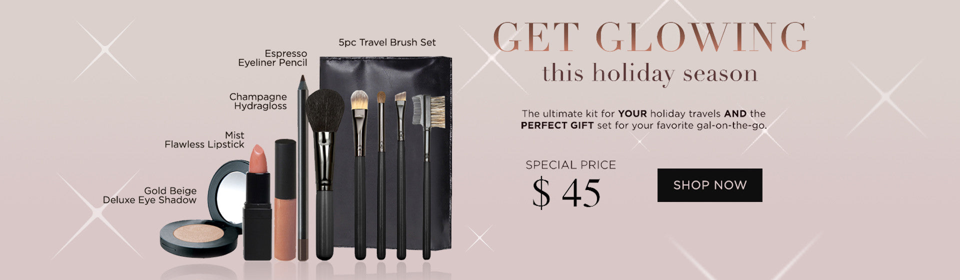 Get Glowing Holiday Makeup Set