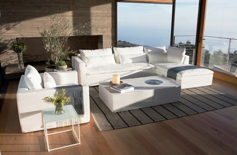 Shown in White Italian Washed Linen